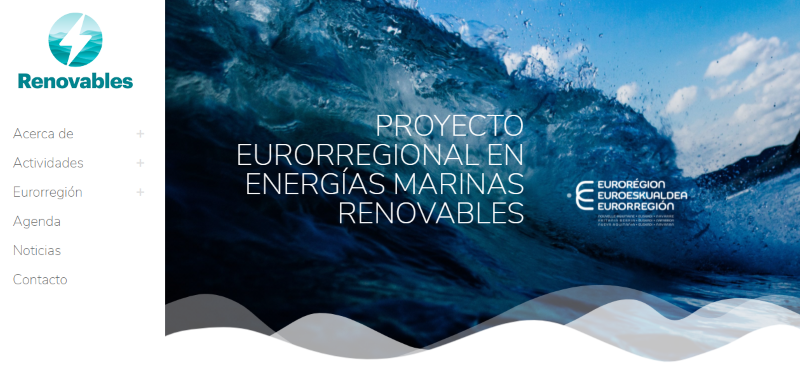 Launch of the website of RENOVABLES eurorregional project: the new project to booster cooperation in Offshore Renewable Energy