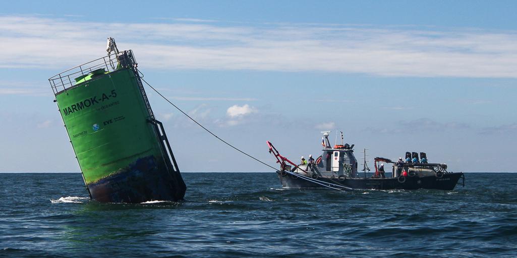 Open-sea testing. Biscay marine energy platform
